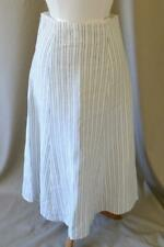 Theory Black & White A-Line Linen Skirt Size 6