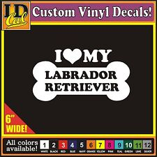 "24 6"" I Love my Labrador Retriever Luv Dog Pet car window vinyl decal Sticker"