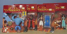 Disney's Aladdin Figures Lot - Aladdin Jafar Jasmine Genie (Mattel NOC)