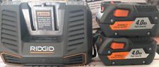 Ridgid Gen5X 18V Hyper Li-Ion Batteries R840087 4.0Ah & Charger R840095