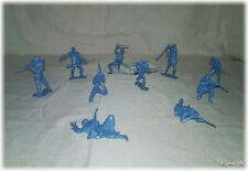 Civil War Soldiers 10pc Blue Union Army Playset Figures, Andy Gard.