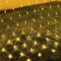LED Lichterkette Lichternetz Lichtervorhang Karneval Außen Innen Beleuchtung