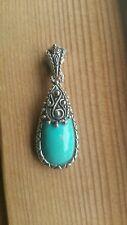 Barbara Bixby Sterling Silver Turquoise Enhancer Pendant