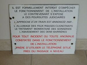 ancienne plaque emaillée NEUHAUS SNCF wagon train gare old station 1979