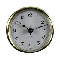 Uhrwerk Quartz Einbau-Uhr Ziffern arabisch Lünette gold Ø 66 mm Batterie inkl.