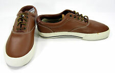 Polo Ralph Lauren Shoes Vaughn Athletic Leather Brown Sneakers Size 7.5