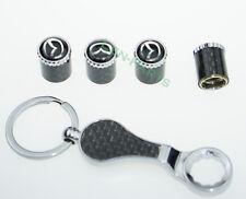1SET Schlüsselbund Diebstahlschutz Reifen Stem Ventilkappen für Mazda 3 6