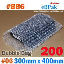 Bubble Pouch BAG : 200pcs #06 300x400mm Clear Bubble Wrap Bags #BB6