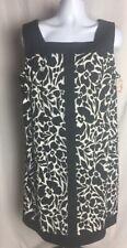 NWT Dressbarn Dress 22 W plus size black white sleeveless dress A LINE