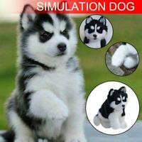 Realistic Husky Dog Simulation Toy Dog Puppy Lifelike Stuffed Companion Toy