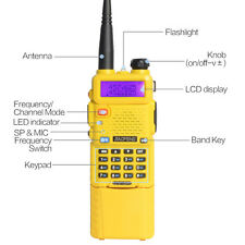BaoFeng UV-5R Dual UHF/VHF Radio Transceiver + 3800mah Battery Walkie US Stock