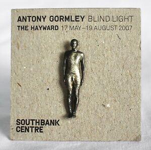 ANTONY GORMLEY Metal BLIND LIGHT Badge/Pin Figure HAYWARD GALLERY 2007