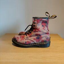 Dr Martens 1460 Castel Victorian Flowers Floral Beige Pink Boots Size UK 4