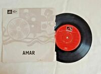 "1954's OLD 45 RPM ""AMAR MOVIE SONGS""- ANGEL RECORDINGS, GRAMOPHONE RECORD"