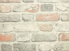 Vintage Pastel Brick Wallpaper, Paste the Wall, Fully Washable