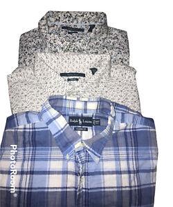 Perry Ellis & Polo By Ralph Lauren cotton men's dress shirt 2XLT Tall 3 Pieces