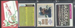 1974 Topps 12 Card Holiday Design Baseball Rack Pack...Hank Aaron