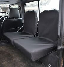 Land Rover Defender 90 110 1983 -07 Tailored traseros abatibles Dicky cubiertas de asiento Negro