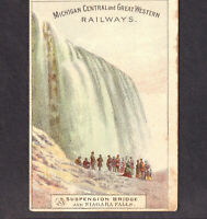 Michigan Central & Great Western Railway 1800's Niagara Falls Train Trade Card