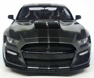 GT Spirit 1/12 Large Scale Ford Mustang Shelby GT500 2020 Grey Resin Model Car