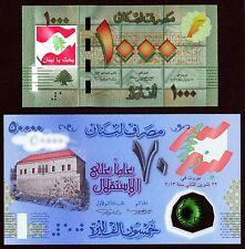 50000 Livres 2013 Polymer & 1000 Livres COLORIZED >> I LOVE LEBANON <<