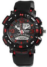 Reloj Hombre analógico digital negro rojo + Box cuarzo reloj de pulsera d-24200015002795