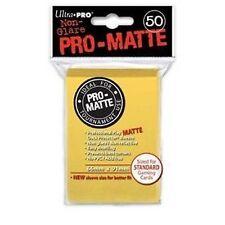 50 PRO MATTE DECK PROTECTORS Yellow Giallo MTG MAGIC Ultra Pro