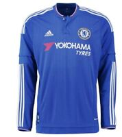 ADIDAS CHELSEA BOYS 2015/16 HOME SHIRT L/S  BNWT AGE 13-14  100% OFFICIAL