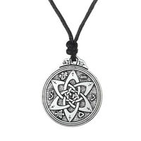 Wicca Flowers Knot Pentacle For Protection Vintage Jewelry Pagan Irish Necklace