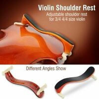 Adjustable Violin Shoulder Rest w/Accs Maple Wood For 3/4 4/4 Size Fiddle Player