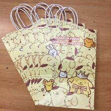 Sanrio Pom Pom Purin Pudding Dog 20th Anniv 5pc Paper Gift Shopping Bags
