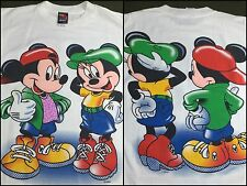 Vintage Mens M 80s 90s Mickey Minnie Mouse Front/Back Streetwear Hip-Hop T-Shirt