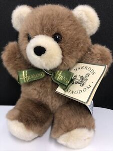 Vintage Harrods Bear With Tag