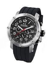 Runde Armbanduhren aus Silikon/Gummi mit Chronograph und Matte