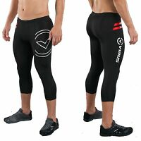 Virus Men's Stay Warm Compression 3/4 Length Pants (SiO6),Crossfit,Gym,Running