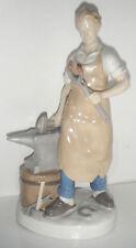 Vintage CARL SCHEIDIG Blacksmith Figurine Porzellanfabrik 24cm