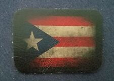 ALL Leather VINTAGE STYLE Puerto Rican Flag JACKET VEST HAT SEW ON  Patch