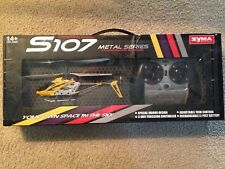 SYMA S107 METAL SERIES 3 CHANNELS INFRARED RC MINI HELICOPTER (YELLOW), AUCTION