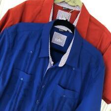 BOHIO Guayabera Camp Shirts XL Contrast Lot of 2 50 Chest Short Sleeve Bowling