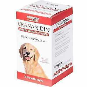 Crananidin Urinary Aid 75 Chewable Tablets Cranberry Extract for Dogs FAST SHIP