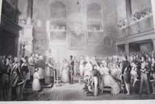 MARIAGE ROI DES BELGES LOUISE D'ORLEANS 1832  GRAVURE 1838 VERSAILLES R1601