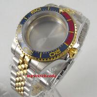 40mm sapphire glass golden plated Watch Case fit ETA 2824 2836 8215 MOVEMENT