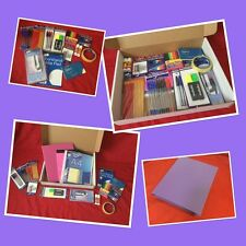 Stationery Set, 100 Piece Quality Back To School Gift Box, PURPLE, Free Delivery