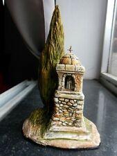 Santon en terre cuite peint Carbonel -Oratoire cyprès n°2