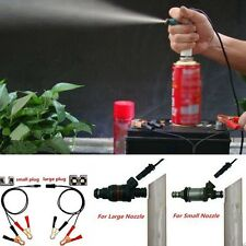 Car Vehicle Fuel Injector Flush Cleaner Adapter DIY Kit Cleaning Tool Nozzle DE