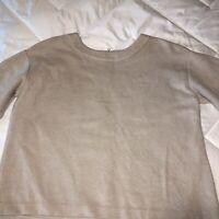 Ann Taylor Top Size:M Mauve Back Zipper Crew Neckline Short Sleeves very Chic!