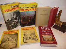 TORINO PIEMONTE Collezione 7 volumi Illustr.+ Disco Storia Magia Dialetti Poesie