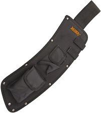 "Marbles MRPAR20S Parang 20"" Orange Fixed Knife Natural Wood Handle Belt Sheath"