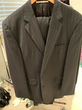 Men's Burberry Suit Brand New Black Pinstripe Sze 42 Reg