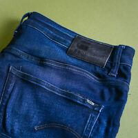 GStar 3301 Jeans Slim Fit Button Blue Men's Vintage (LabelW36L32) W 38 L 32